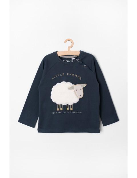 Bluzka niemowlęca z owieczką - granatowa