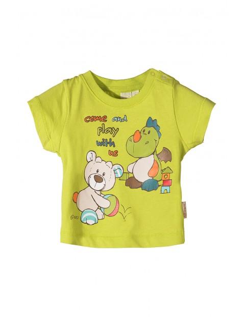 T-shirt dla niemowlaka Nici-zielony