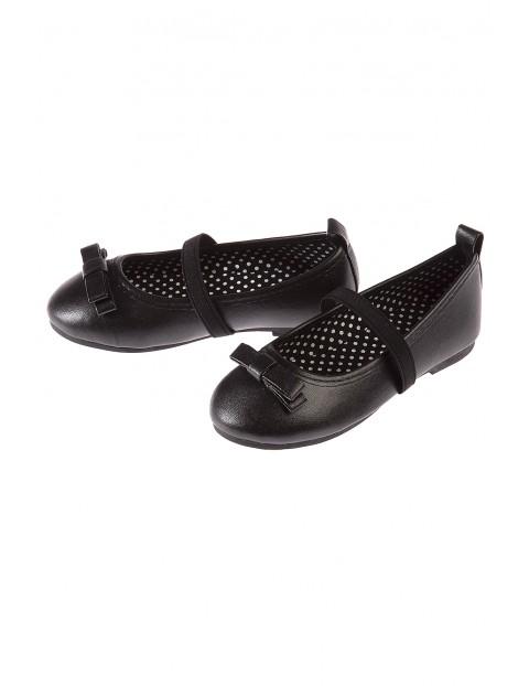 Baleriny dziewczęce czarne 3Z3514
