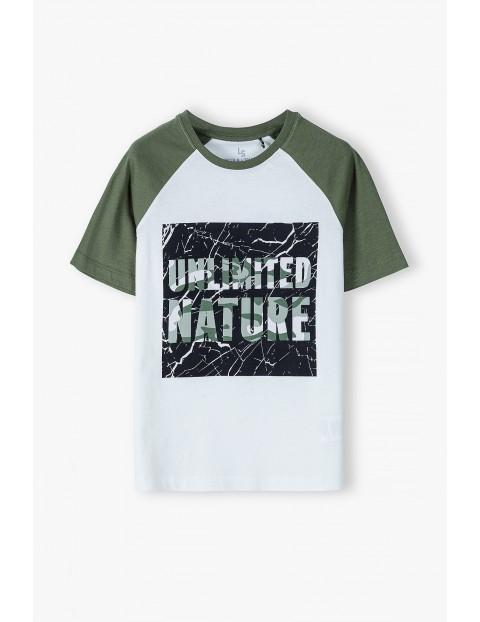 Bawełniany t-shirt chłopięcy - Unlimited Nature