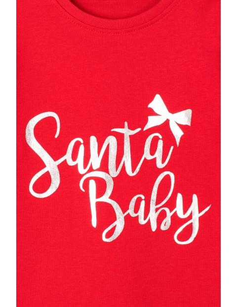 Body niemowlęce czerwone z napisem- Santa Baby