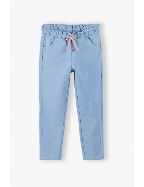 Niebieskie spodnie dresowe dla dziewczynki