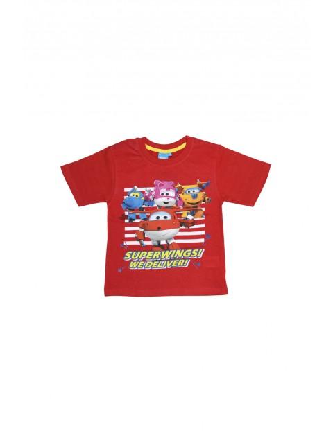 T-shirt dziecięcy Superwings czerwony