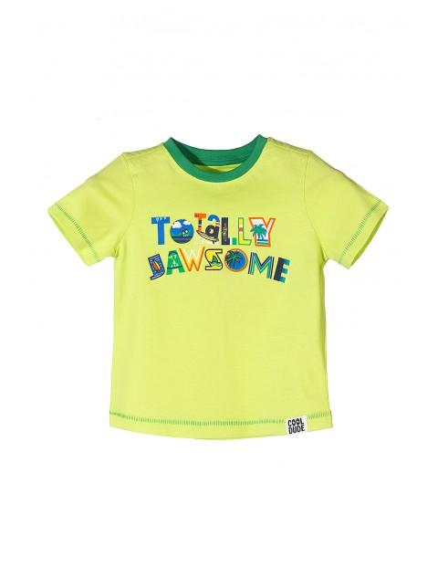 T-shirt chłopięcy w energetycznych kolorach