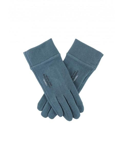 Rękawiczki damskie - niebieskie