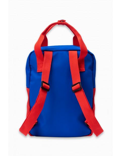 Plecak chłopięcy z funkcją torby w kolorze niebieskim