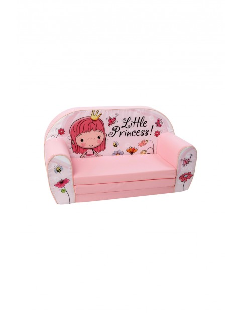 Piankowa sofa rozkładana dla dziewczynki Delsit Księżniczka