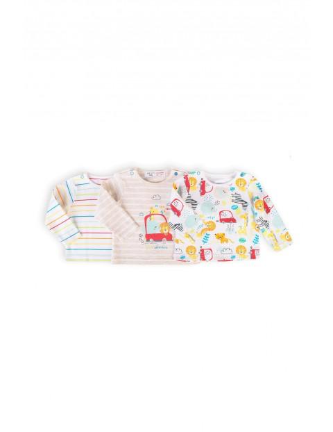 Komplet bawełnianych bluzek niemowlęcych 3-pak