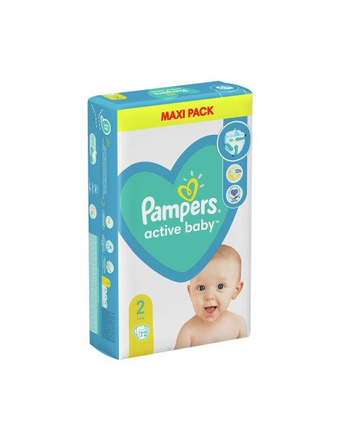 Pampers Active Baby, rozmiar2, 72szt, 4-8kg