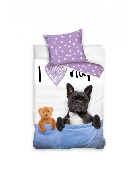 Pościel bawełniana dla dziecka Dog 160x200+70x80 cm