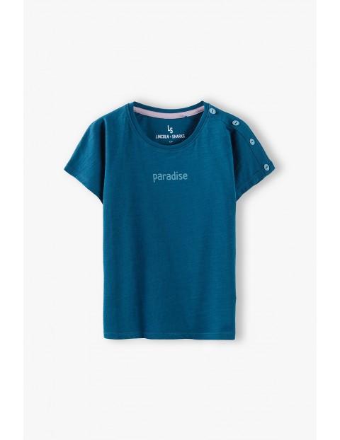 T-shirt dziewczęcy bawełniany Paradise