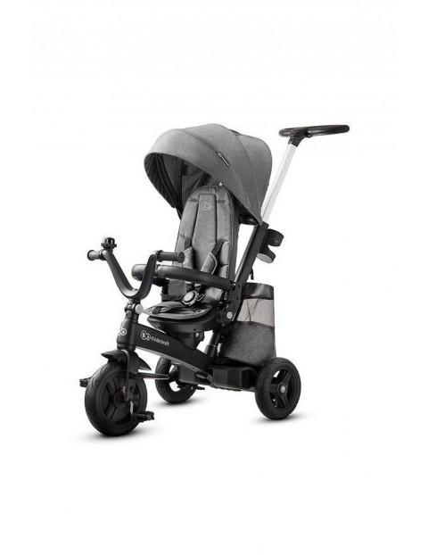 Rowerek trójkołowy- spacerówka Kinderkraft Easytwist szary- 9msc+