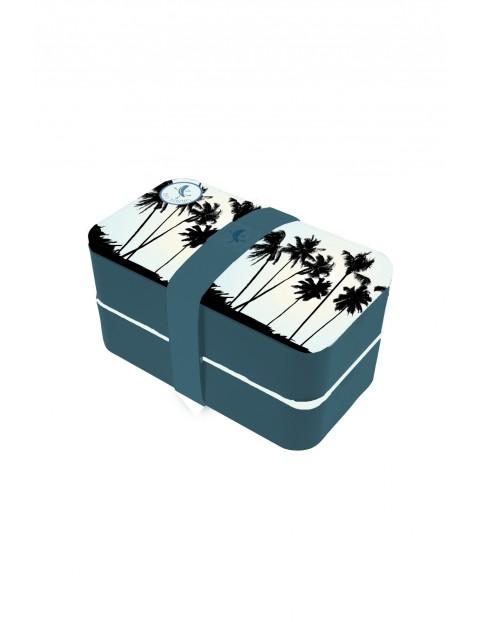 Pudełko śniadaniowe z przegródkami w palmy 11,5x18,5x10 cm