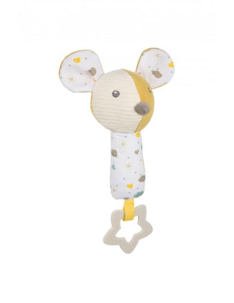 Pluszowa zabawka z piszczkiem i gryzakiem Myszka- 0msc+