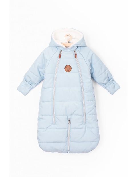 Kombinezon zimowy dla niemowlaka- niebieski