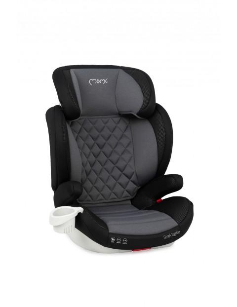 MoMi QUICK FIX fotelik samochodowy dla dzieci z II i III grupy wiekowej szaro-czarny 15-36kg