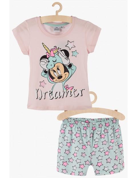 Pidżama dziewczęca Myszka Minnie różowo-zielona