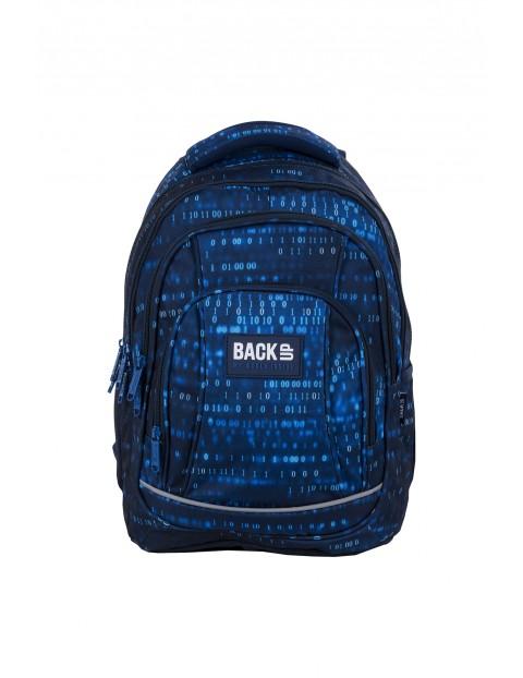 Plecak szkolny BackUp chłopięcy w cyferki