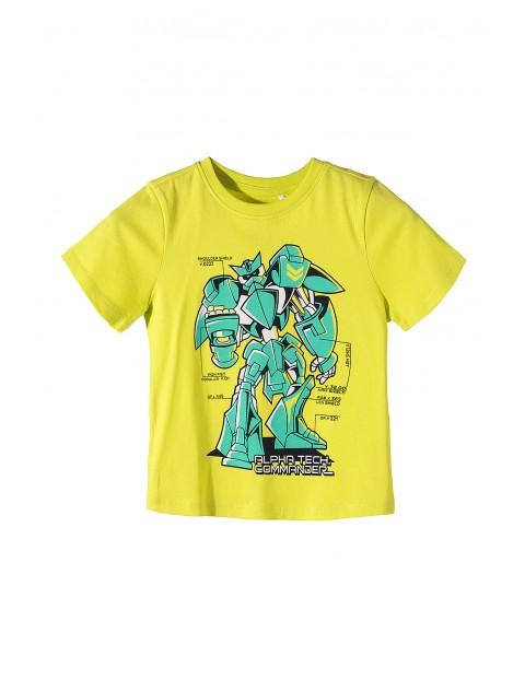 T-shirt chłopięcy z robotem 100% bawełna