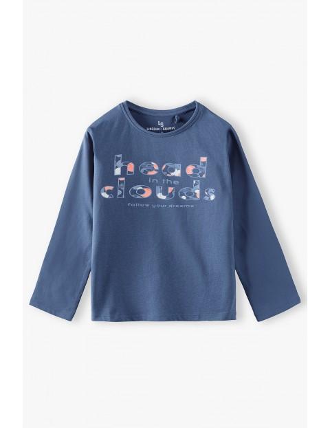 Bawełniana niebieska bluzka dziewczęca