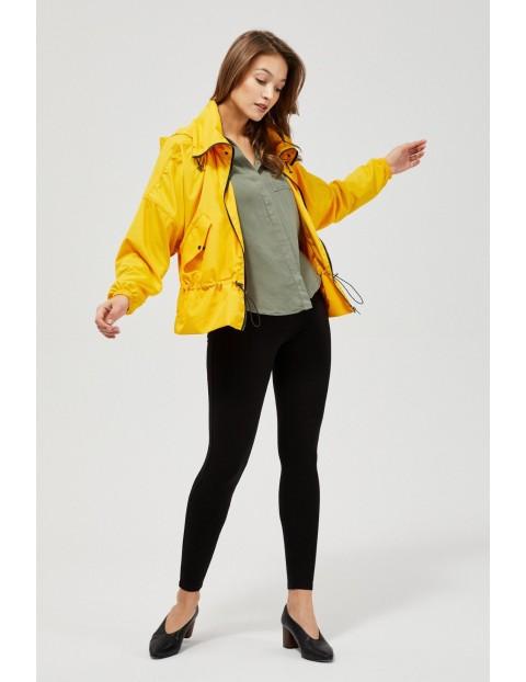 Kurtka damska typu wiatrówka - żółta