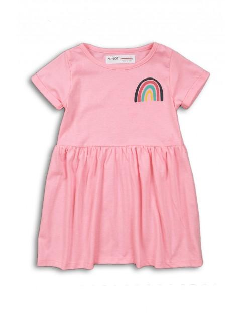 Sukienka niemowlęca różowa z tęczą
