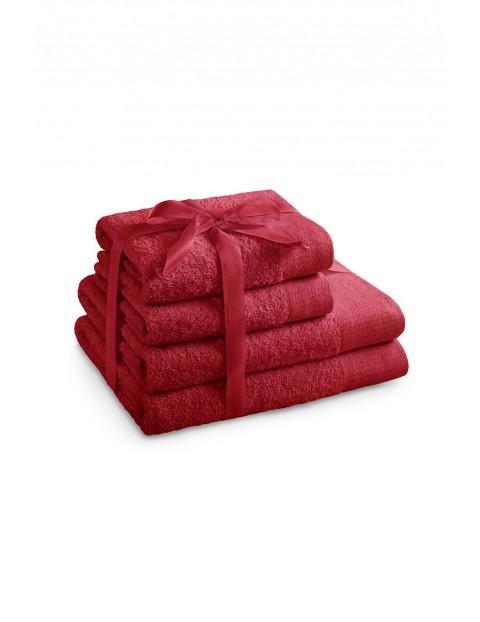 Zestaw ręczników AMARI czerwone - 4 sztuki - 2 ręczniki 70x140 cm, 2 ręczniki 50x100 cm
