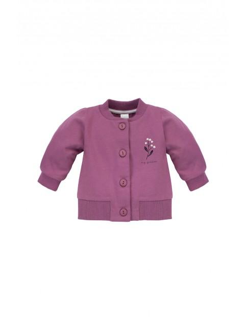 Dziewczęca bluza z dresówki- fioletowa