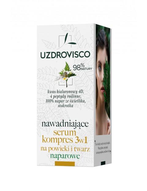 Uzdrovisco Świetlik Nawadniające serum kompres 3w1 na powieki i twarz naparowe 50ml