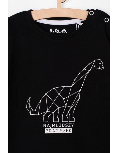 Bluzka niemowlęca z dinozaurem - czarna