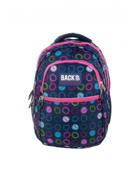 Plecak BackUP  +SŁUCHAWKI)w kolorowe kółeczka