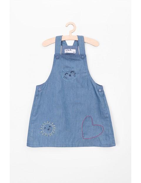 Sukienka dziewczęca jeansowa- niebieska