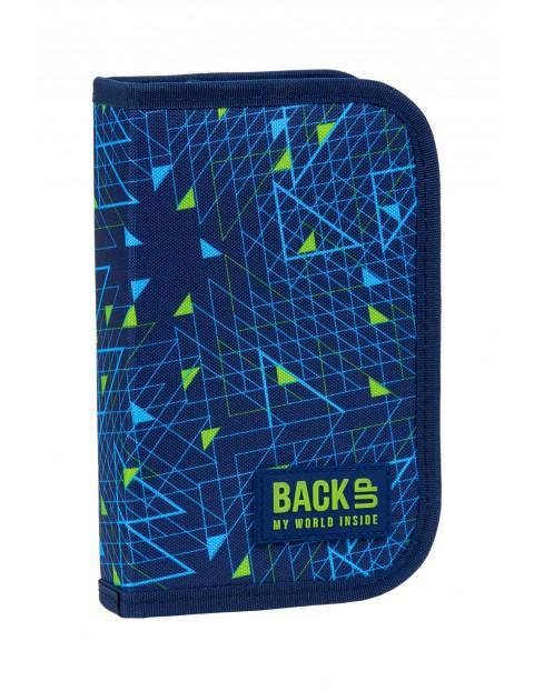 Piórnik szkolny BackUp 3 bez wyposażenia - trójkąty