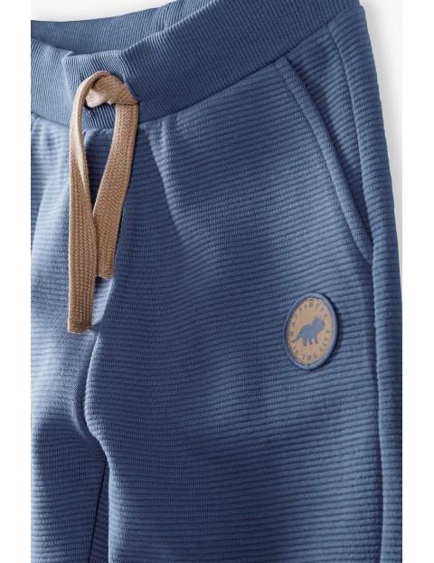 Spodnie dresowe chłopięce granatowe Dino