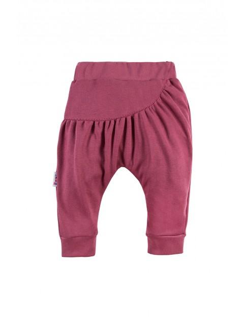 Bawełniane spodnie dresowe bordo NATURE