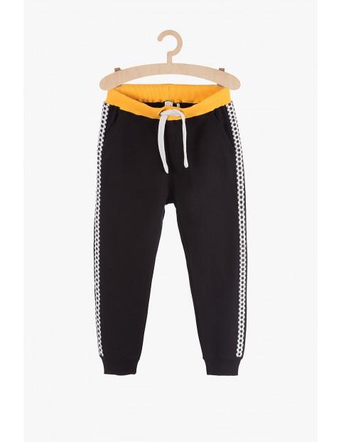 Spodnie dresowe dla chłopca-czarne