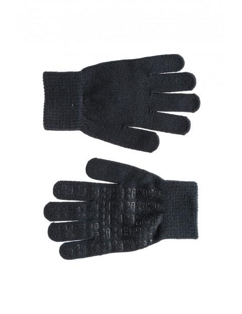Rękawiczki dla chłopca-szare