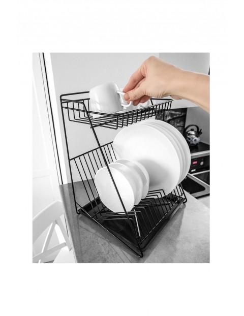 Suszarka na naczynia dwupoziomowa ociekacz do naczyń 30x26x39 cm - czarna