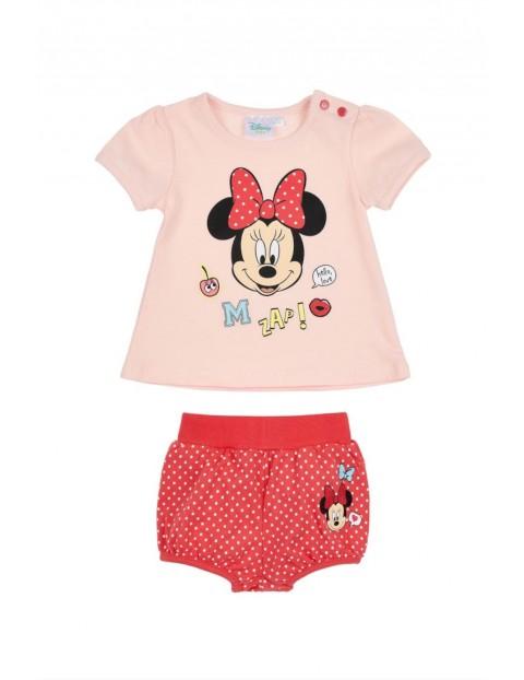 Komplet dziewczęcy t-shirt i spodenki-Minnie