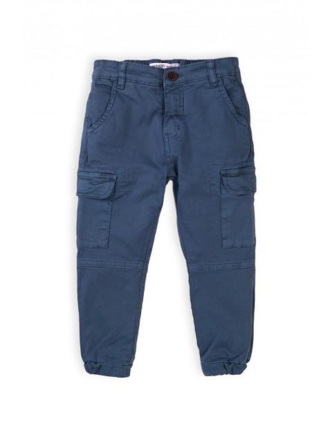 Spodnie chłopięce bojówki z kieszeniami - granatowe