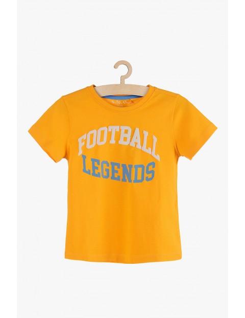 """T-shirt chłopięcy pomarańczowy """"Football Legends"""""""
