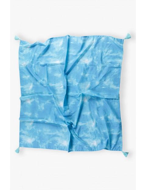 Poncho plażowe- niebieskie
