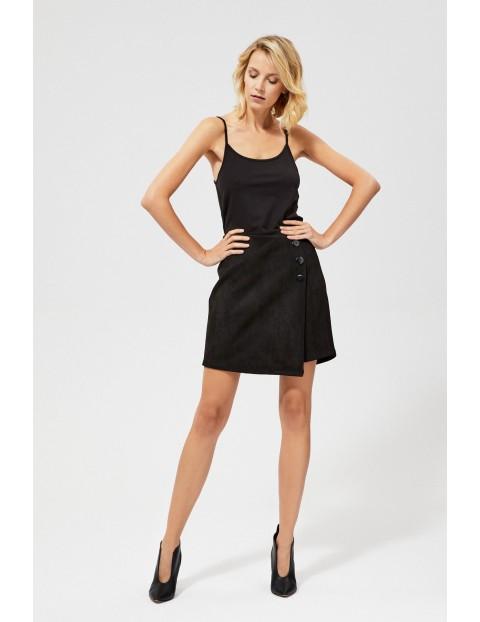 Czarna spódnica mini z guzikami