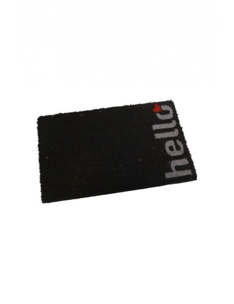 Wycieraczka prostokątna czarna 60×40 cm