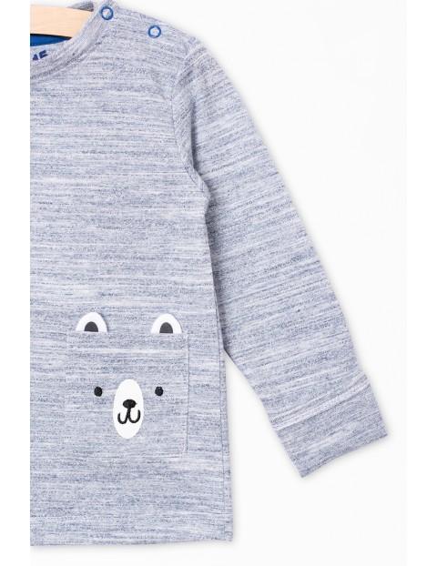 Bluzka z długim rękawem- ozdobna kieszonka