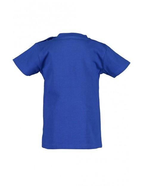Koszulka chłopięca niebieska z samochodzikami
