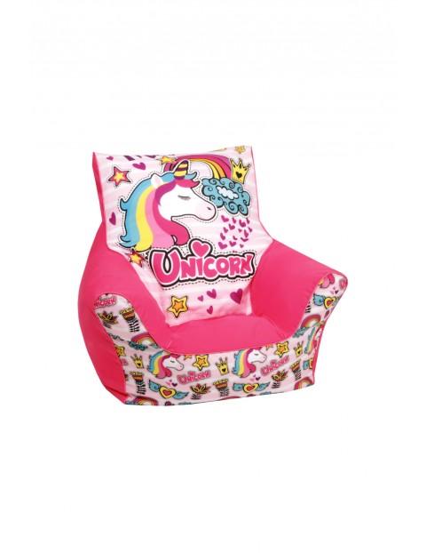 Fotelik z granulatem Jednorożec-różowy