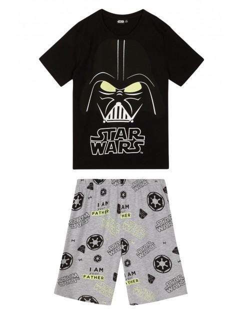 Piżama chłopięca Star Wars z nadrukami świecącymi w ciemności