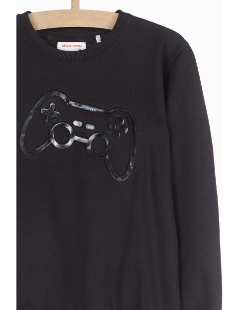 Cienka dresowa bluza chłopięca - czarna