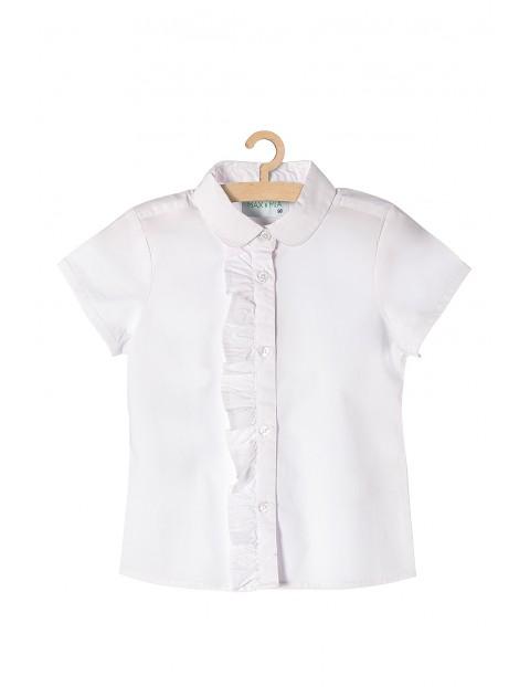 Koszula dziewczęca biała z ozdobną falbanką